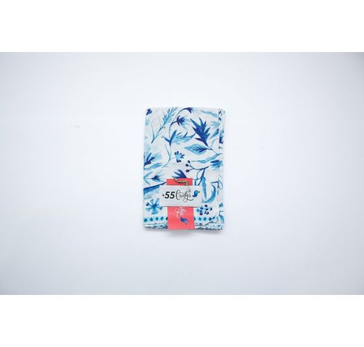 Blue and white floral pareo - AZULEJOS