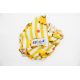 Yellow/white striped pareo, banana pattern - BANANADA