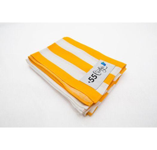 Yellow and white striped pareo - LISTRAS ESPUMANTES