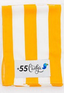 Pareo med gule og hvite striper - LISTRAS ESPUMANTES