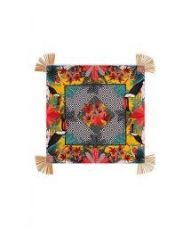 Tropical/geometric-print multicoloured sarong - MAGNUM CUMIN