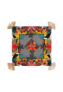 Multikolorowe kwadratowe pareo w geometryczny wzór - MAGNUM CUMIN