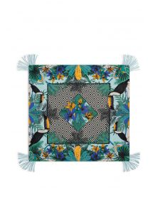 Sarong colorati stampa tropicale / geometrico - MAGNUM TURQUOISE