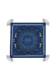 Paréo bleu marine imprimé mandala - MANDALA BLUE