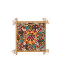 Ethic wax-print multicoloured sarong - WAX YELLOW