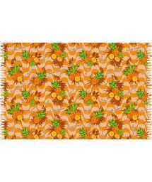 Orange sarong med ananas motiv - ABACAXI COPACABANA