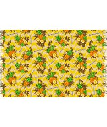 Pineapple-patterned pareo in shades of yellow - ABACAXI RIO DE JANEIRO