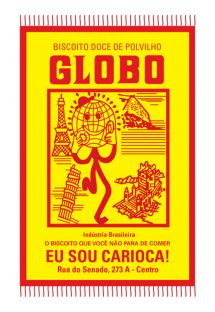 Red and yellow Globo biscuits pareo - BISCOITO GLOBO VERMELHO