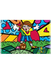 This spirit of Brazil is condensed in this bright pareo full of lust for life! - CANGA abraço romero britto