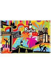Paréo brésilien haut en couleurs sur le thème de Bahia - CANGA BAHIA POP