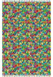 Páreo multicolorido sobre as favelas - CANGA FAVELINHA
