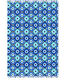 Geometric blue pareo, Greek eye symbol - CANGA OLHO GREGO