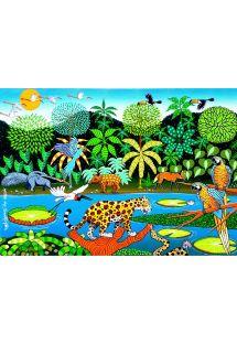 Sarong rừng nhiệt đới với c�c lo�i động vật - CANGA PANTANAL NAIF