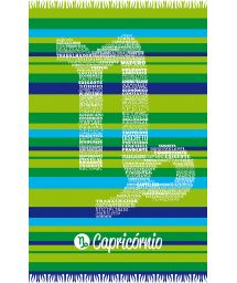 Green striped pareo with Capricorn zodiac sign - CAPRICORNIO