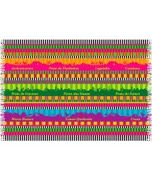 Paréo à bandes multicolores et paysages Ceara - CEARA MEGACOLOR