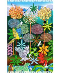 Pareo with a naive tropical forest illustration - DESPERTAR DA PRIMAVERA