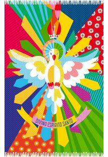Canga multicolorida com pássaros - DIVINO ESPIRITO SANTO