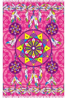 Pink pareo with dream-catcher pattern - DREAM PINK