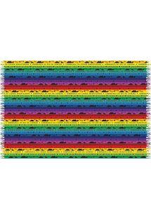 Pareo med farvestrålende bånd som bringer lykke - FITINHAS RIO