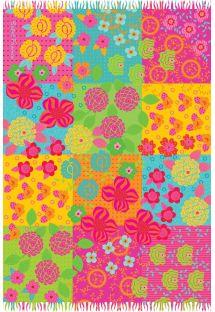 Pareo sfangiato multicolore a fiori - FLORAL BEBEL