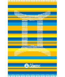 Two-tone striped pareo with Gemini zodiac sign - GEMEOS