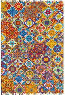 Multi-coloured Arab-style sarong - LADRILHO AMARELO