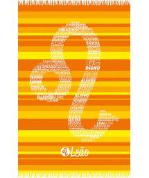 Yellow striped pareo with Leo zodiac sign - LEAO