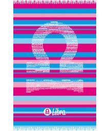 Striped pareo with Libra zodiac sign - LIBRA