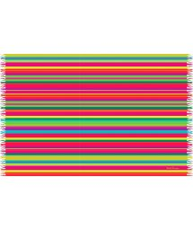 Multicoloured brightly striped fringed pareo - LISTRAS BEBEL