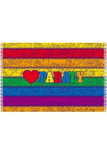 Colourful striped pareo with Paraty - PARATY LOVE