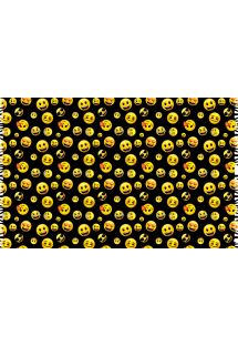 Black and yellow pareo with smiley print - ROSTINHOS