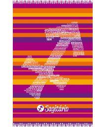Sagittarius astrological sign striped pareo - SAGITARIO