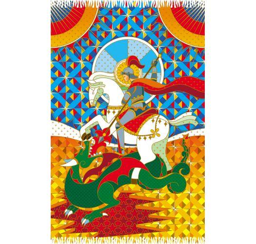 Multicoloured pareo, George and the dragon - SAO JORGE