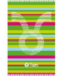 Taurus astrological sign colourful striped pareo - TOURO