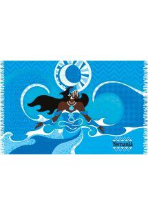 Blue pareo, godess in the waves - YEMANJA
