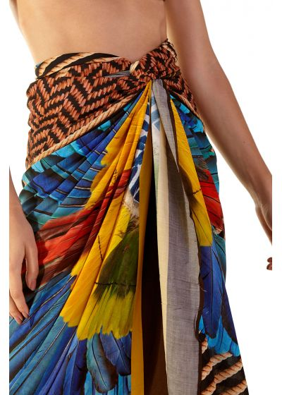 Pareo with ethnic and tropical print - KANGA GUINÉ