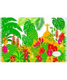 Tropical landscape and Christ the Redeemer pareo - CANGA JARDIM BOTANICO BEBEL