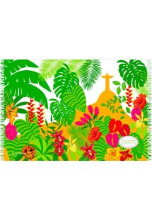 Páreo paisagem tropical e Cristo Redentor - CANGA JARDIM BOTANICO BEBEL