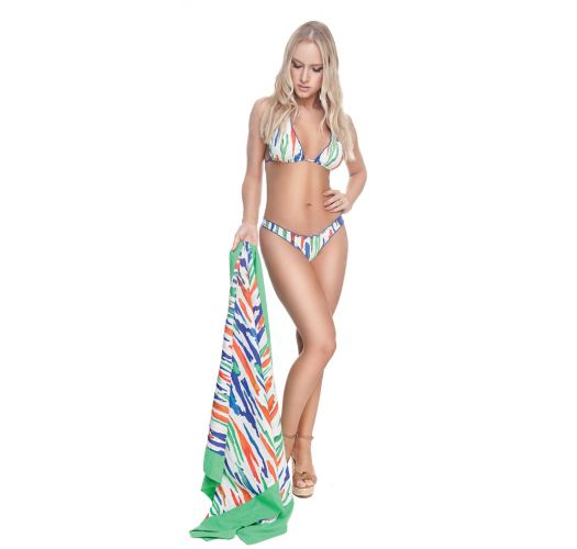 Luxurious pareo with colorful print - SARONG PAINTING