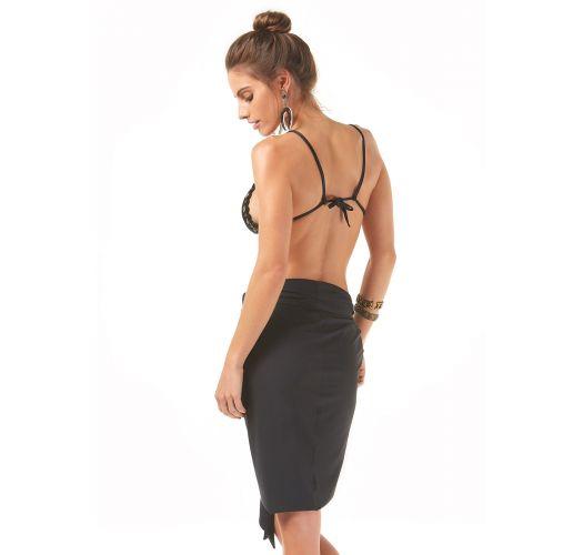Black sarong-style pareo to tie - SARONG