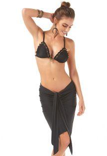 Sort sarong i pareo-stil med bindebånd - SARONG