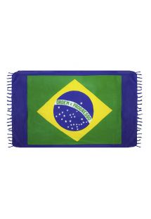Brazilian beach towel - CANGA BRAZIL FLAG BLUE