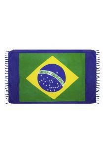 Pareo, Plazovy rucnik - CANGA BRAZIL FLAG BLUE