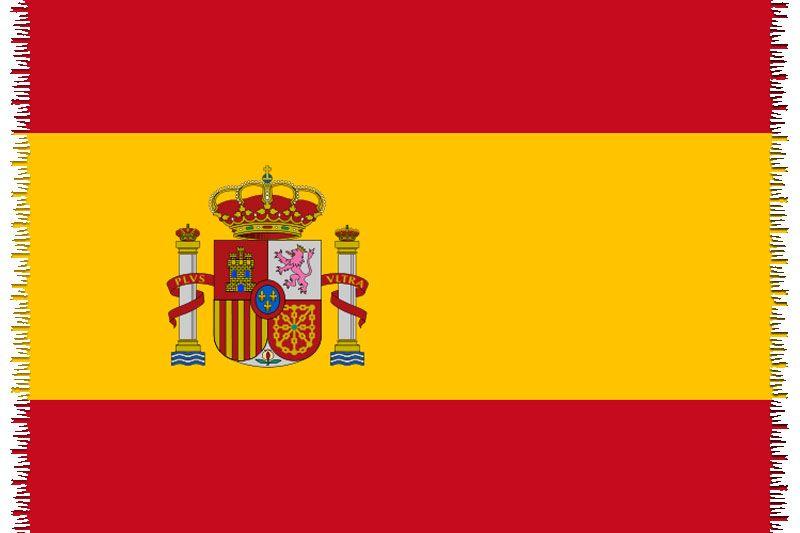 Pareo, Strandhandduk Nationsflagga Spain