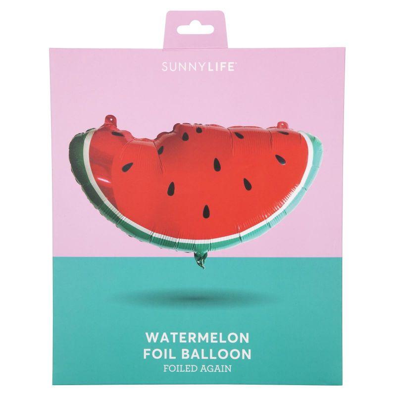 Aluminium ballong i form av en vattenmelon - BALLOON WATERMELON