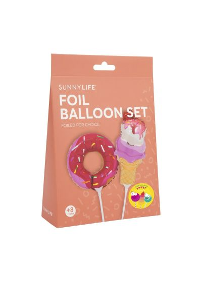 Set med 2 ballonger, munk och glass - BALLOONS SWEET TOOTH SMALL