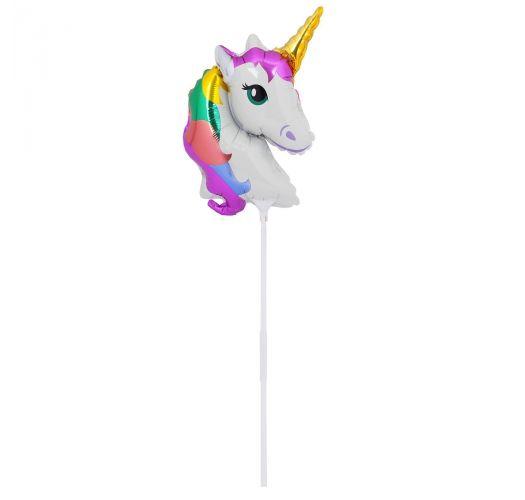 Set of 2 ballons on sticks unicorn/rainbow - BALLOONS WONDERLAND SMALL