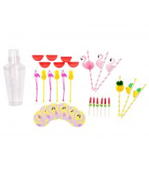 Flamingo/summer themed cocktail kit - COCKTAIL COLOR KIT
