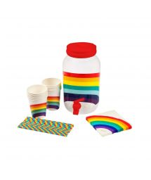 Rainbow drink dispenser kit - DRINK PARTY KIT RAINBOW