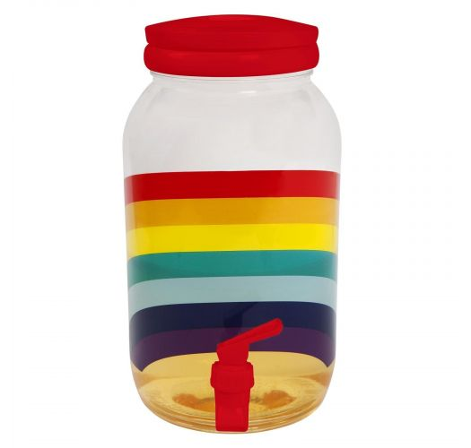 Rainbow drink dispenser kit - DRINK PARTY KIT RAINBOW